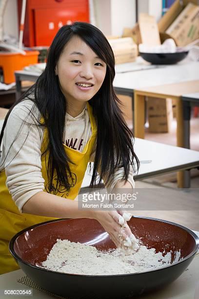 Making home-made soba noodles