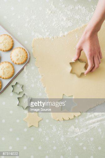 Making mince pies and cookies : Stock Photo