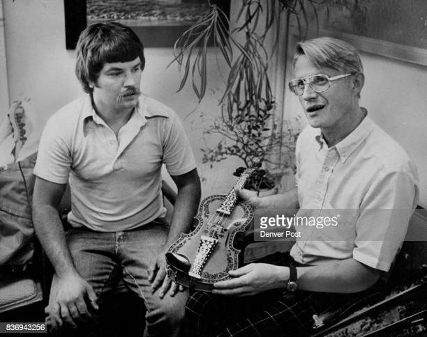 Making Norwegian Fiddle The Harding Fele is only First Step Next Roger Ronnie left and Rolf Tveitan plan to learn to play the instrument Credit...