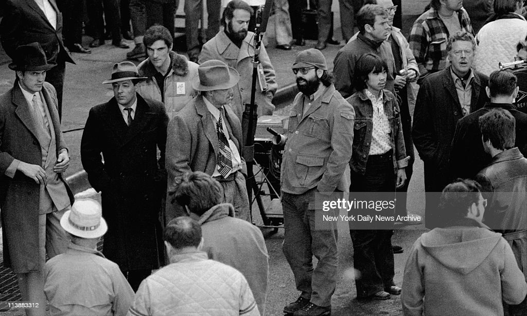 Making of movie The Godfather on Mott Street in Manhattan Marlon Brando and Francis Ford Coppola talks about the scene where Marlon Brando plays Don...