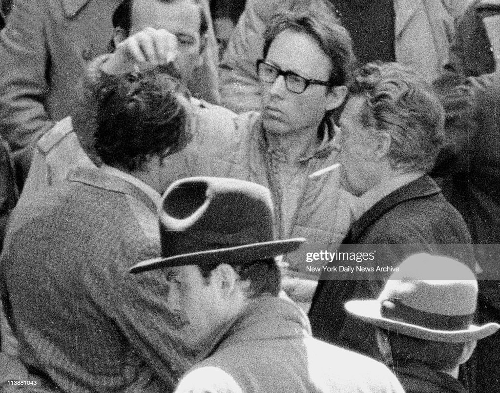 Making of movie The Godfather on Mott Street in Manhattan Marlon Brando has his hair fixed up for shooting Brando plays Don Corleone in the movie and...