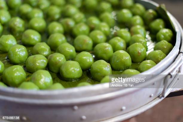 Making Onde Onde, a Nonya sweet delicacy.