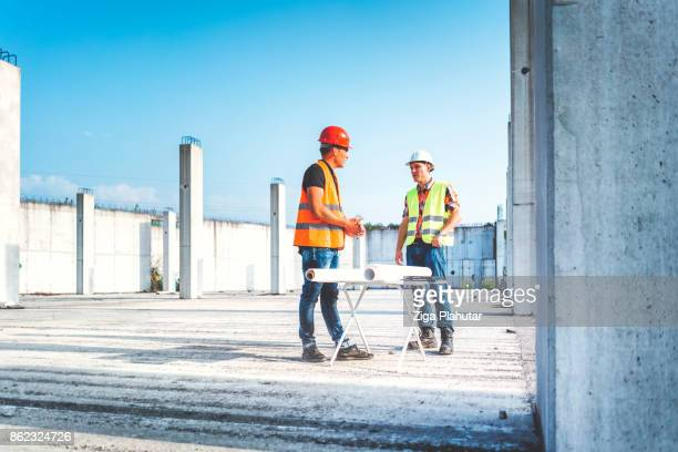 Making plan at construction site