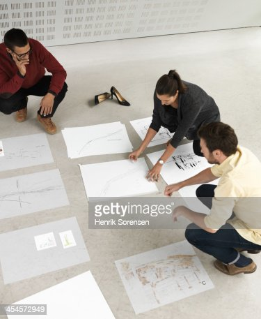 Making Plans : Stock Photo