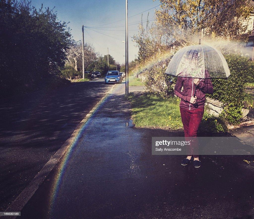 Making rainbows : Stock Photo