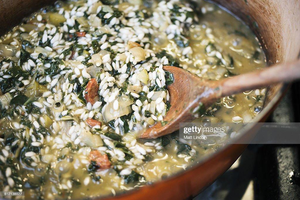 Making risotto