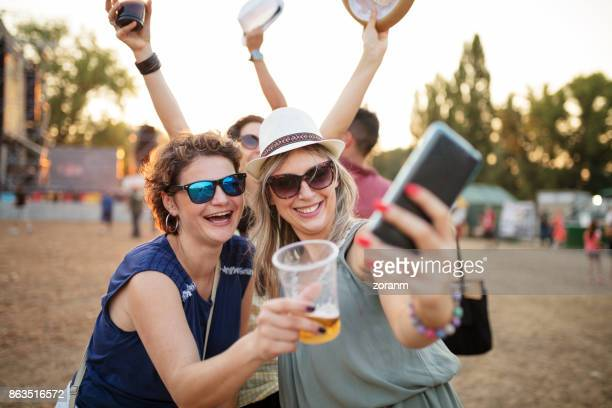 Making selfie at music festival