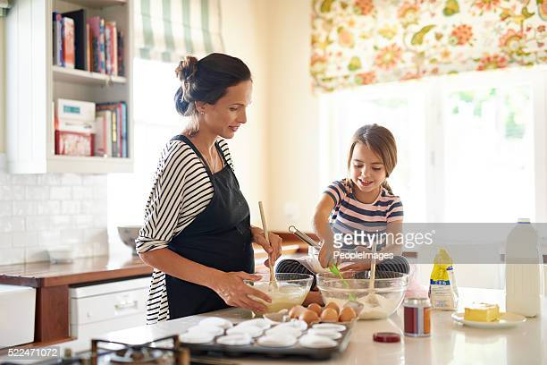 Making something sweet with mommy