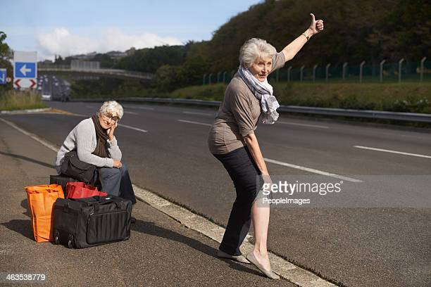 Making their escape from the retirement village...