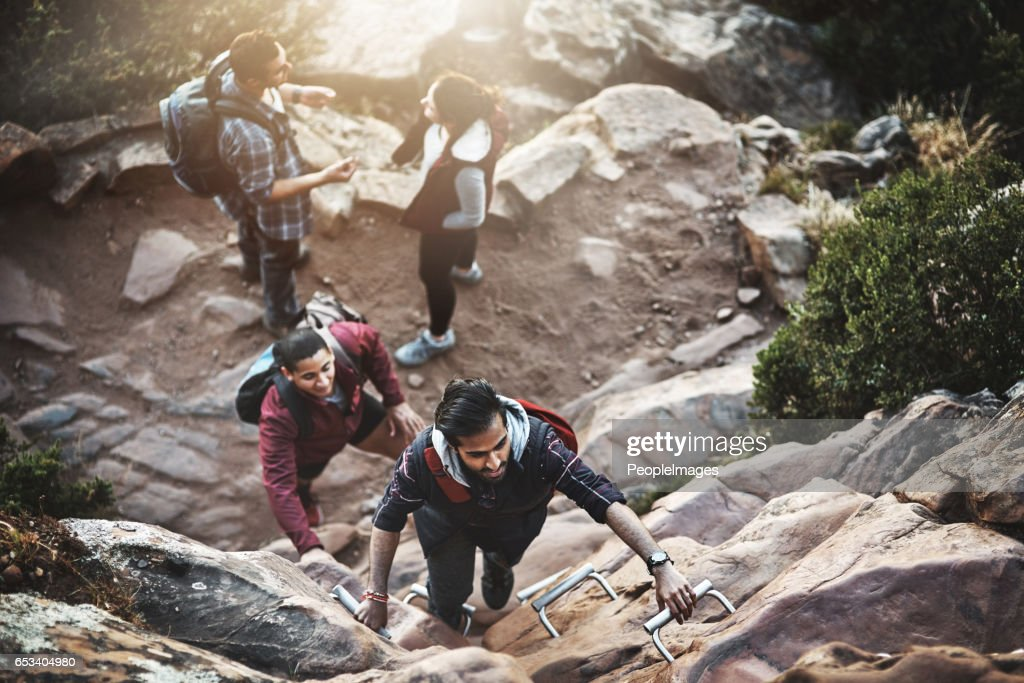 Making their way to the top : Stock Photo