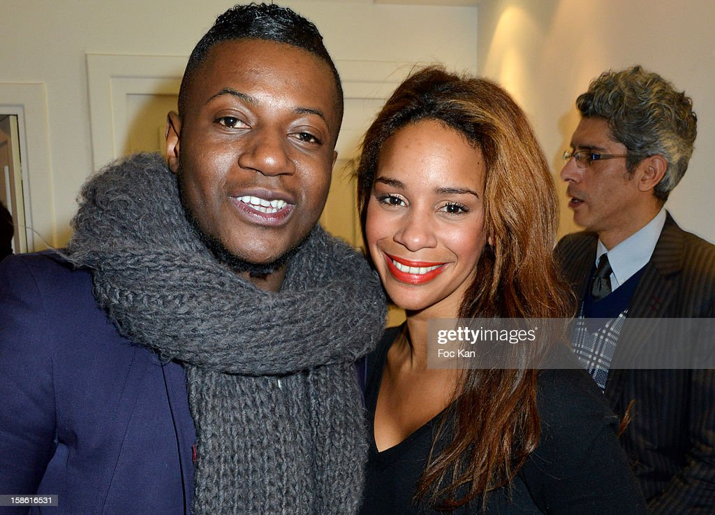 Maklor Babutulua and Alicia Fall attend the 'Starter TV' Launch Party at Espace Brey on December 20, 2012 in Paris, France.