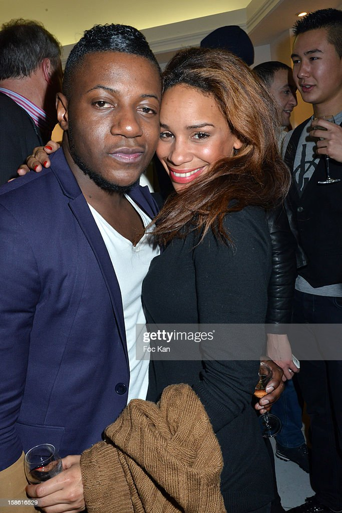 Maklor Babutulua and Alicia Fall attend the 'Starter TV'Launch Party at Espace Brey on December 20, 2012 in Paris, France.