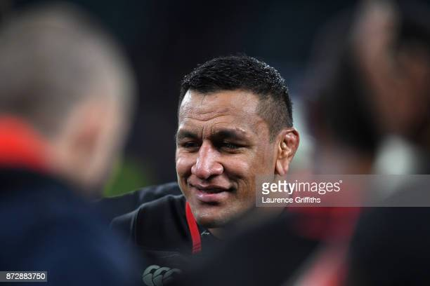 Mako Vanipula of England looks on after the Old Mutual Wealth Series match between England and Argentina at Twickenham Stadium on November 11 2017 in...