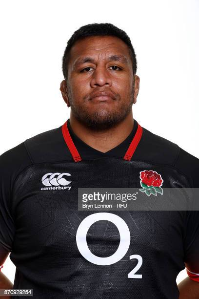 Mako Vunipola of England poses for a portrait during the England Elite Player Squad Photo call at Pennyhill Park on November 6 2017 in Bagshot England