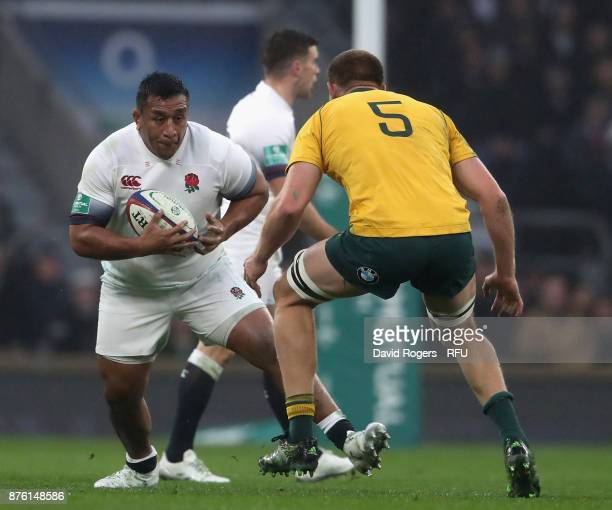 Mako Vunipola of England runs with the ball during the Old Mutual Wealth Series international match between England and Australia at Twickenham...