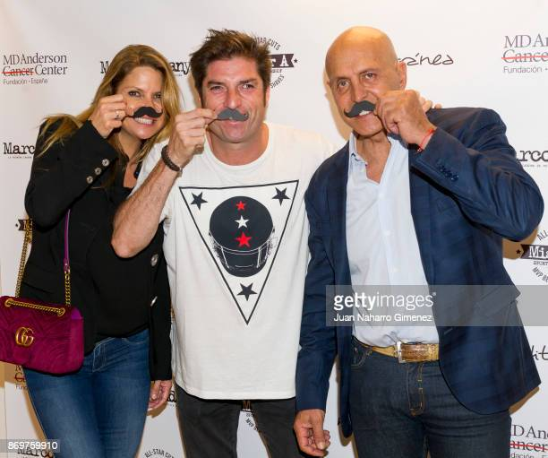 Makoke Oscar Haro and Kiko Matamoros attend 'Corto Por Ti' charity campaign presentation at MD Anderson Cancer Center Madrid on November 3 2017 in...