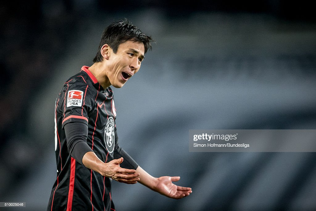 <a gi-track='captionPersonalityLinkClicked' href=/galleries/search?phrase=Makoto+Hasebe&family=editorial&specificpeople=876998 ng-click='$event.stopPropagation()'>Makoto Hasebe</a> of Frankfurt reacts during the Bundesliga match between 1. FC Koeln and Eintracht Frankfurt at RheinEnergieStadion on February 13, 2016 in Cologne, Germany.