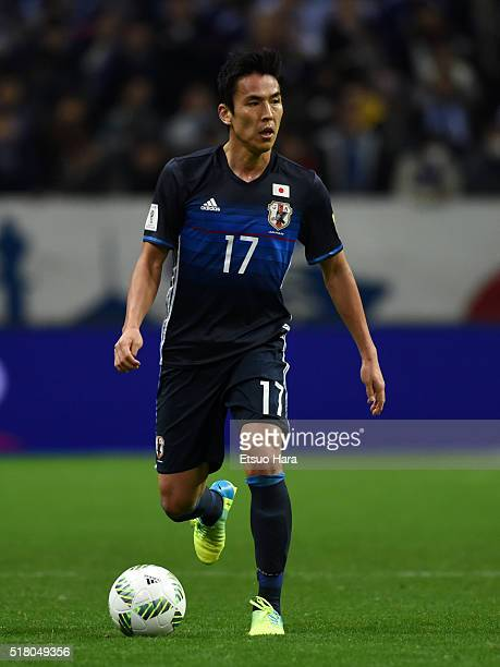 Makoto Hasebe of Japan in action during the FIFA World Cup Russia Asian Qualifier second round match between Japan and Syria at the Saitama Stadium...