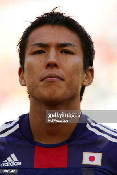 Makoto Hasebe of Japan looks on the international friendly match between South Africa and Japan at the Nelson Mandela Bay Stadium on November 14 2009...