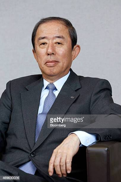 Makoto Inoue president and chief executive officer of Orix Corp poses for a photograph after an interview in Tokyo Japan on Tuesday April 7 2015 Orix...