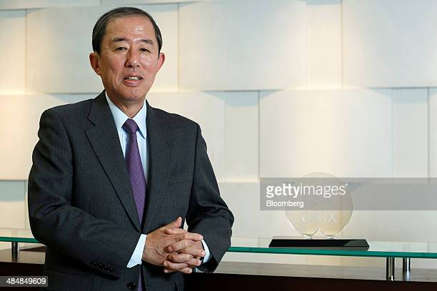 Makoto Inoue president and cochief executive officer of Orix Corp poses for a photograph following an interview at the company's headquarters in...