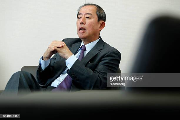 Makoto Inoue president and cochief executive officer of Orix Corp speaks during an interview at the company's headquarters in Tokyo Japan on Tuesday...
