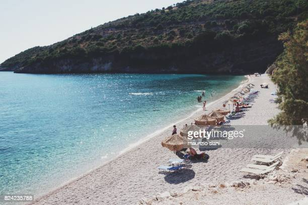 Makris Gialos beach in Zakynthos island, Greece