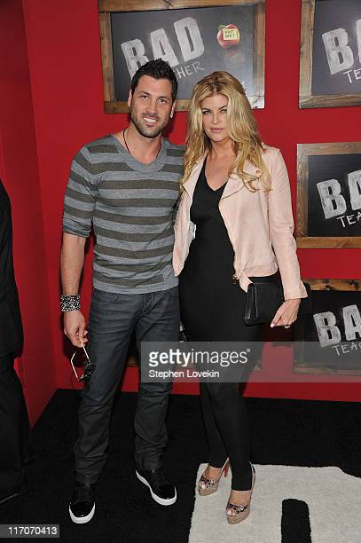 Maks Chmerkovskiy and Kirstie Alley attend the premiere of 'Bad Teacher' at the Ziegfeld Theatre on June 20 2011 in New York City