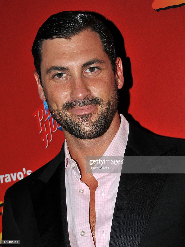 Maks Chmerkovskiy poses at the 'Forever Tango' opening night party at Planet Hollywood Times Square on July 14, 2013 in New York City.