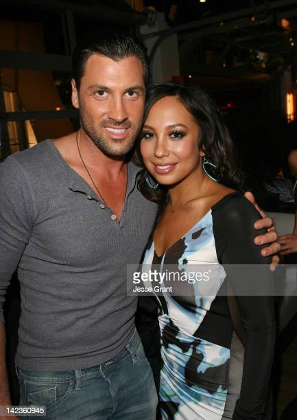 Maksim Chmerkovskiy and Cheryl Burke attend the 'Dancing With The Stars' After Party at Mixology101 Hosted by Cheryl Burke on April 2 2012 in Los...