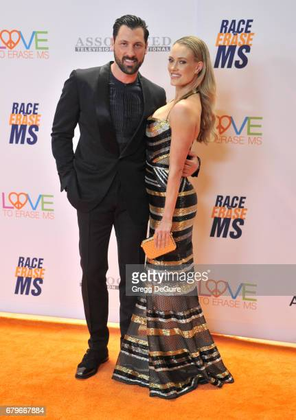 Maksim Chmerkovskiy and Peta Murgatroyd arrive at the 24th Annual Race To Erase MS Gala at The Beverly Hilton Hotel on May 5 2017 in Beverly Hills...