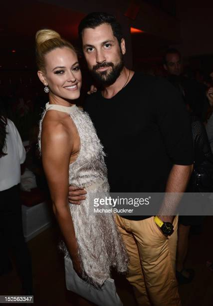 Maksim Chmerkovskiy and Peta Murgatroyd attend The 2012 Entertainment Weekly PreEmmy Party Presented By L'Oreal Paris at Fig Olive Melrose Place on...