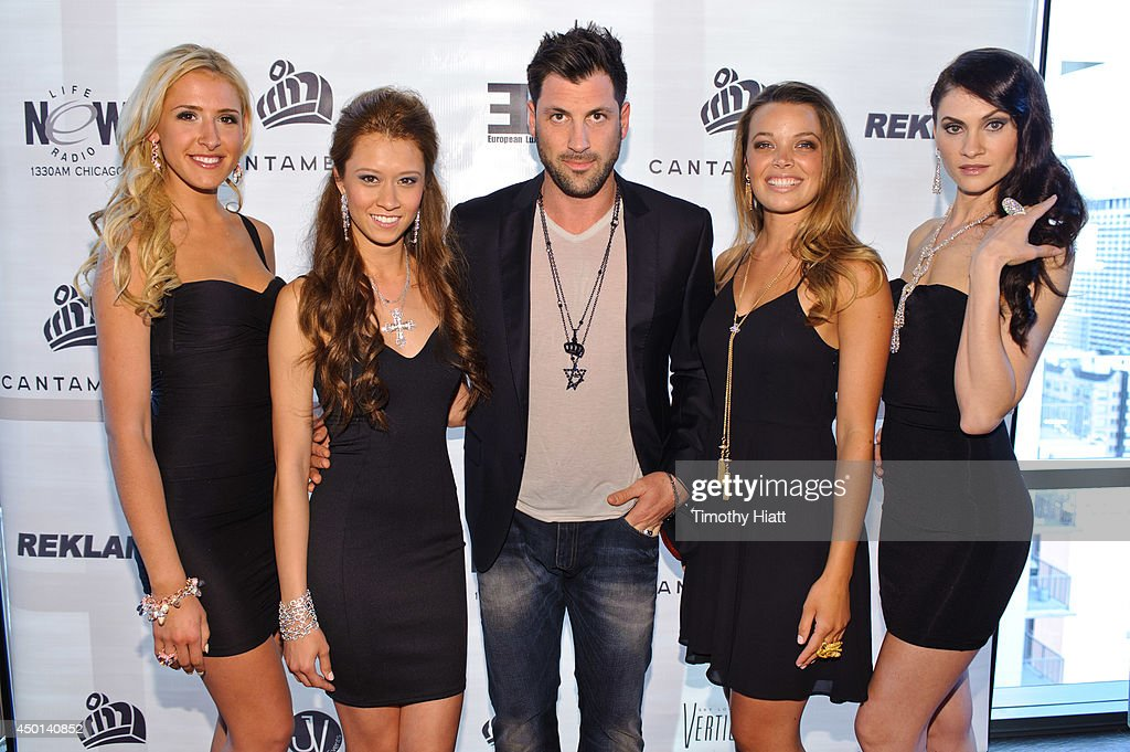 <a gi-track='captionPersonalityLinkClicked' href=/galleries/search?phrase=Maksim+Chmerkovskiy&family=editorial&specificpeople=4251170 ng-click='$event.stopPropagation()'>Maksim Chmerkovskiy</a> and the Cantamessa models attend the 2014 Cantamessa Collection Preview at Vertigo Sky Lounge on June 5, 2014 in Chicago, Illinois.