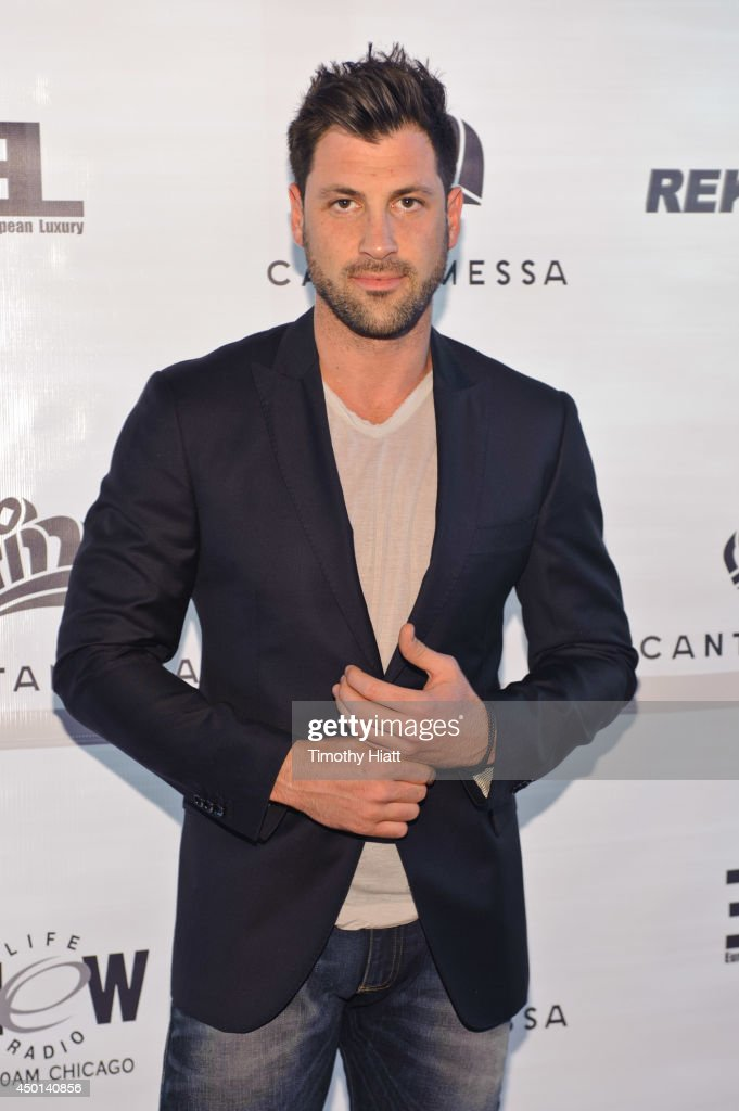 <a gi-track='captionPersonalityLinkClicked' href=/galleries/search?phrase=Maksim+Chmerkovskiy&family=editorial&specificpeople=4251170 ng-click='$event.stopPropagation()'>Maksim Chmerkovskiy</a> attends the 2014 Cantamessa Collection Preview at Vertigo Sky Lounge on June 5, 2014 in Chicago, Illinois.