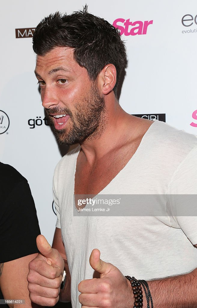 <a gi-track='captionPersonalityLinkClicked' href=/galleries/search?phrase=Maksim+Chmerkovskiy&family=editorial&specificpeople=4251170 ng-click='$event.stopPropagation()'>Maksim Chmerkovskiy</a> attends the Star Magazine's 'Hollywood Rocks' Party held at the Playhouse Hollywood on April 4, 2013 in Los Angeles, California.