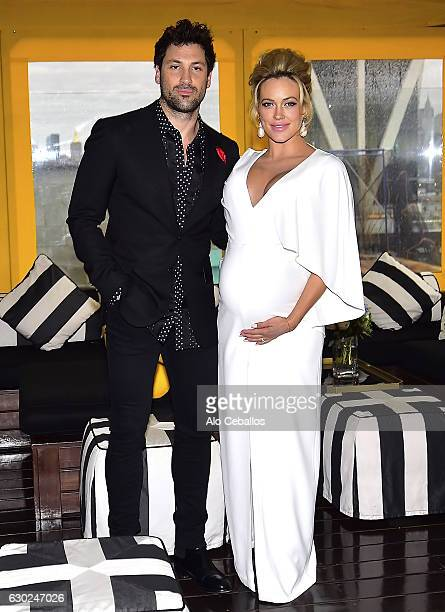 Maksim ChmerkovskiyPeta Murgatroyd at The McCarren Hotel on December 18 2016 in Brooklyn New York