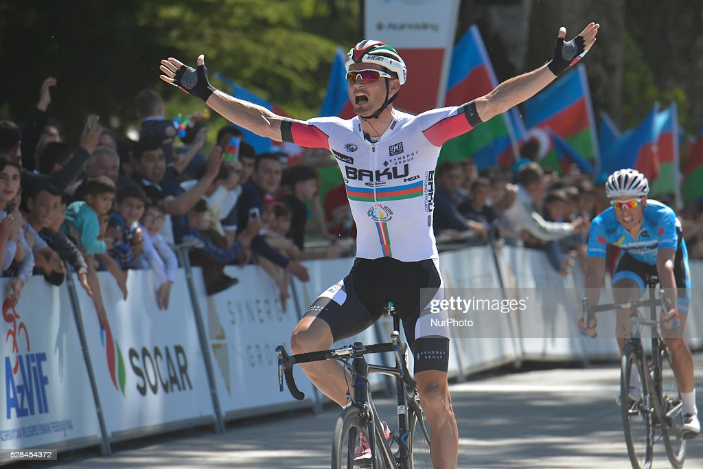 Thumbnail Credit (cyclingquotes.com): Tour d'Azerbaijan 2016 | Getty Images www.gettyimages.co.uk -  Maksym Averin, a rider from Synergy Baku Cycling Project wins the second stage of the