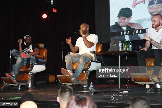 Mal Joe Budden and Rory attend the Joe Budden Podcast Live at Highline Ballroom on July 21 2017 in New York City