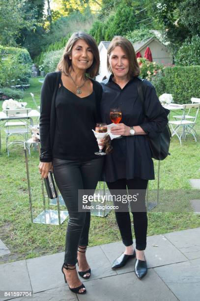 Mala Sander and Roxanne Taylor attend the Samantha Yanks and Molly Sims Reception to Celebrate Jimmy Choo at c/o The Maidstone on August 31 2017 in...