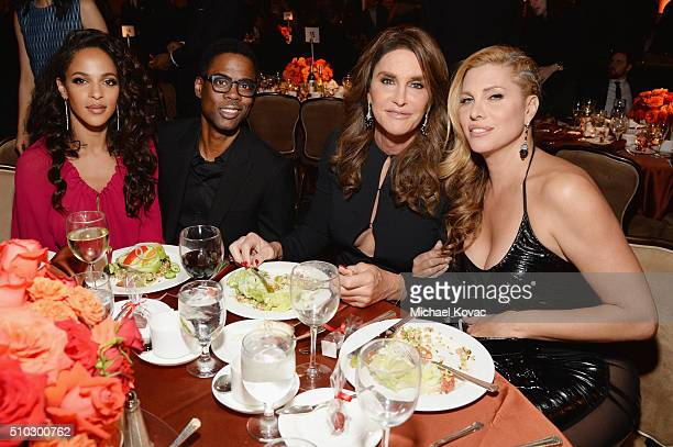 Malaak Compton Rock comedian Chris Rock and tv personalities Caitlyn Jenner and Candis Cayne attend the 2016 PreGRAMMY Gala and Salute to Industry...