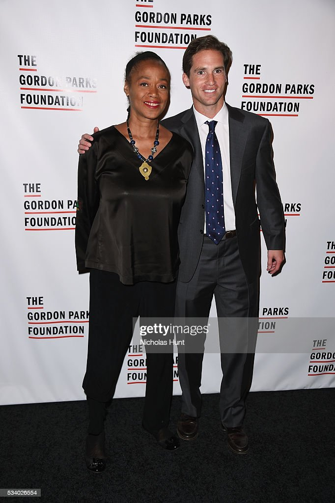 <a gi-track='captionPersonalityLinkClicked' href=/galleries/search?phrase=Malaak+Shabazz&family=editorial&specificpeople=1137741 ng-click='$event.stopPropagation()'>Malaak Shabazz</a> and Executive Director of the Gordon Parks Foundation Peter Kunhardt Jr. attend the 2016 Gordon Parks Foundation awards dinner at Cipriani 42nd Street on May 24, 2016 in New York City.