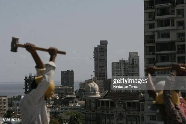 Malabar Hill Housing Real Estate Highrise Buildings Skyscrapers Occupation Labour Labourers A view from Simla House in Malabar Hill