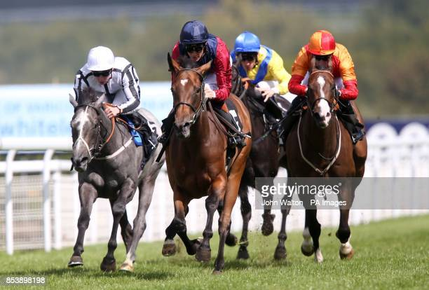 Malabar ridden by Richard Hughes comes home to win The Whiteley Clinic Prestige Stakes at Goodwood Racecourse Chichester