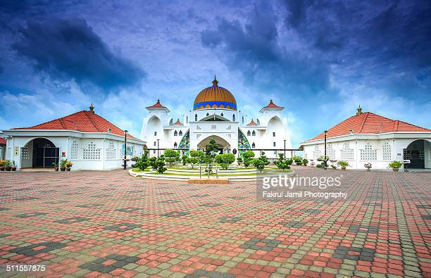 Malacca Straits Mosque Front View