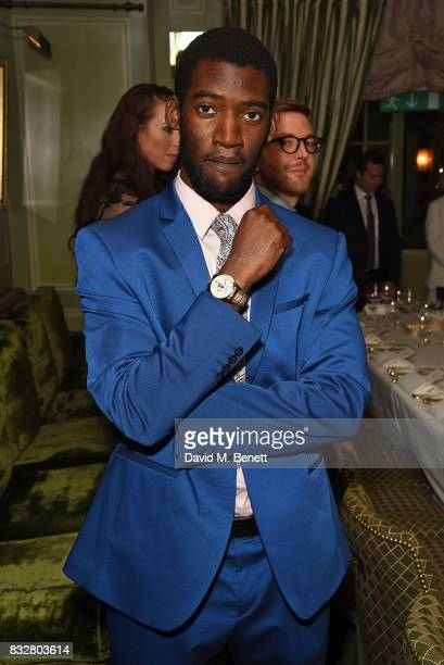 Malachi Kirby attends a VIP Dinner with Longines and Simon Baker to celebrate the Commonwealth Baton arriving in London at Marks Club on August 16...