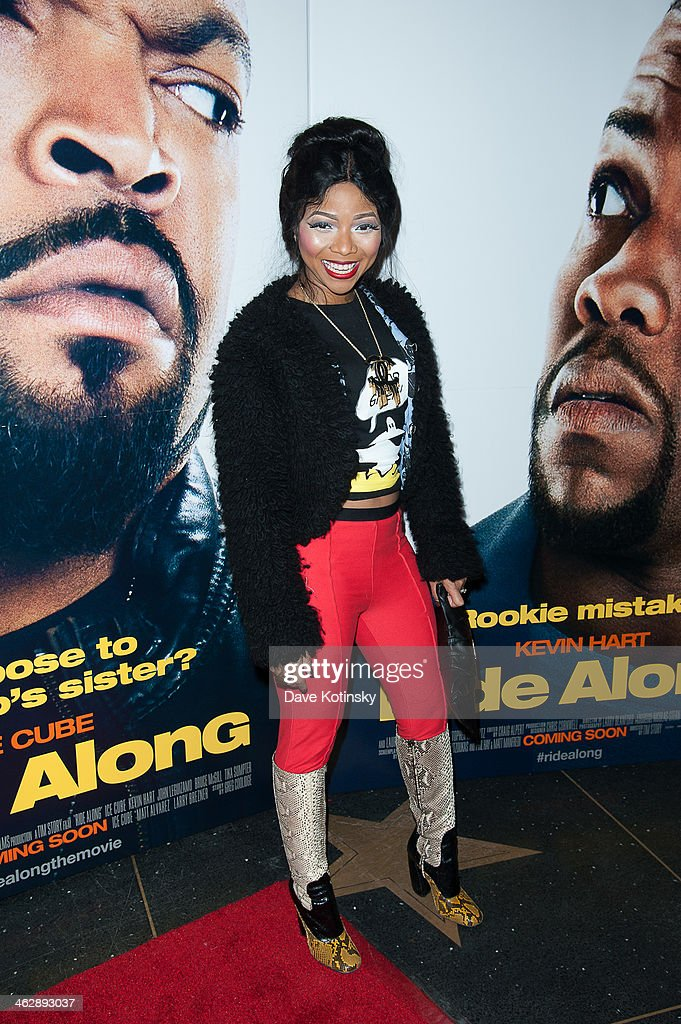 Malacka Reed attends the 'Ride Along' screening at AMC Loews Lincoln Square on January 15, 2014 in New York City.