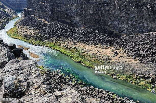 USA, Idaho, High angle view of Malad Gorge