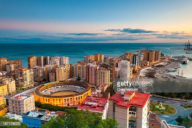 Malaga Cityscape at Sunset, Spain