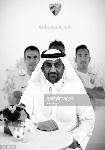 Malaga FC owner and president Sheikh Abdullah Al Thani poses during day three of Soccerex Asia on December 6 2016 in Doha Qatar