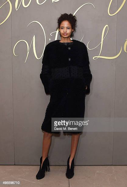 Malaika Firth arrives at the Burberry Festive film premiere at 121 Regent Street on November 3 2015 in London England